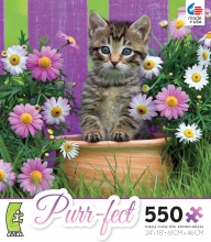 PUZZLE Purr-fect Purple Flowers