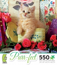 PUZZLE Purr-fect Tin of Roses